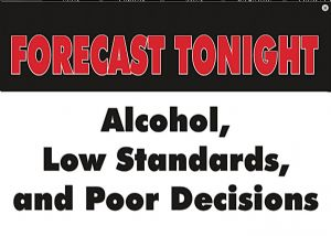 Forecast Tonight steel fridge magnet  (ga)
